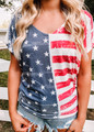 Stars and Stripes Casual Dolman Top