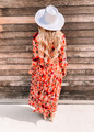 Wild Lotus Floral Ruffle Tiered Maxi Dress
