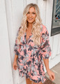 Ruffle Babydoll Floral Dress Pink CLEARANCE