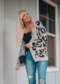 So Soft Leopard Print Open Cardigan Blush