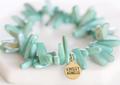 Aqua Marine Stone Stackable Bracelet Set
