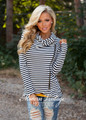 Completely Cozy Navy Striped Jacket