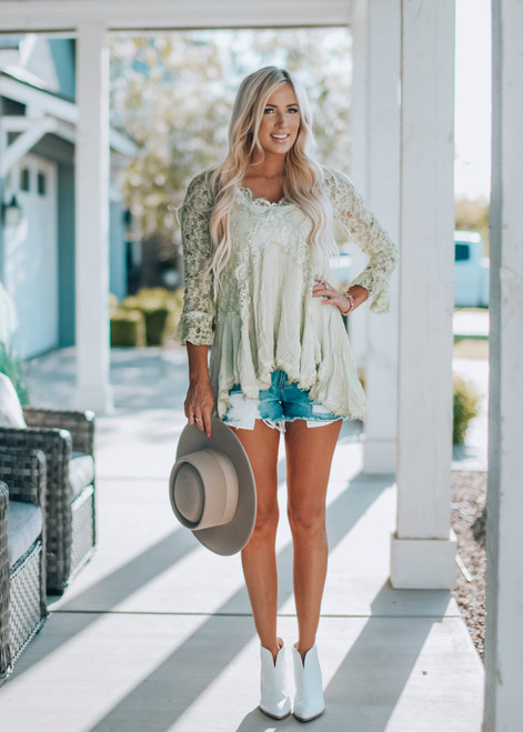 Worth More Than Anything Lace Tunic Mint