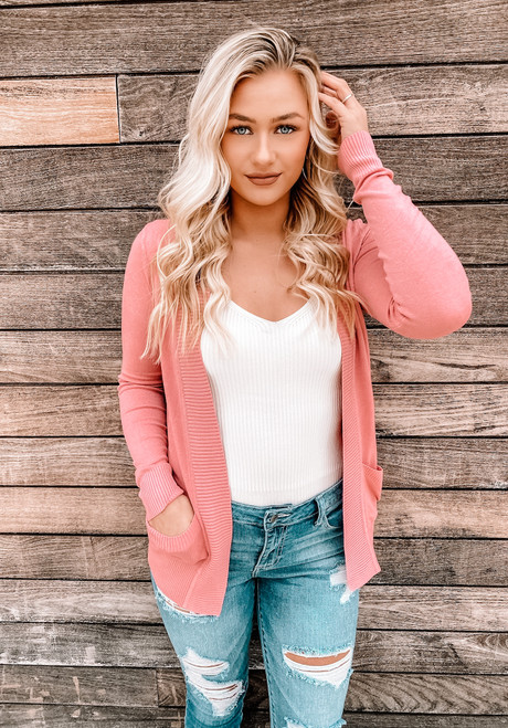 Let Me Love You Pocket Cardigan Pink