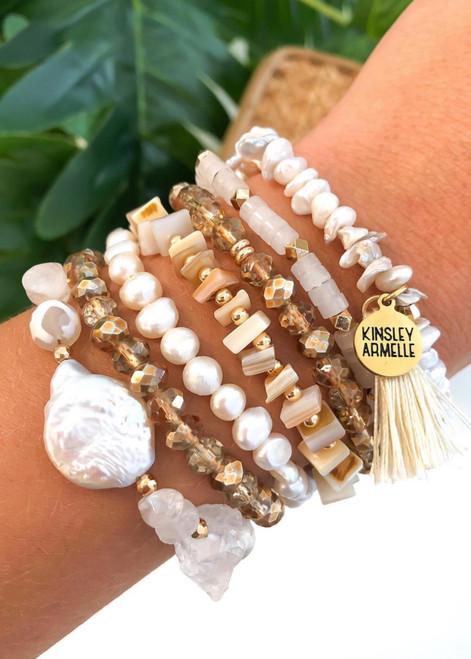 Mother of Pearl Kinsley Armelle Stackable Bracelet Set