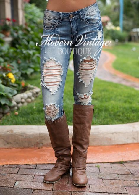New Selena Gomez Distressed Jeans