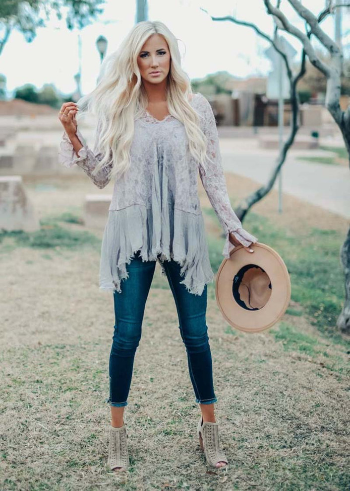 Worth More Than Anything Lace Tunic Mocha