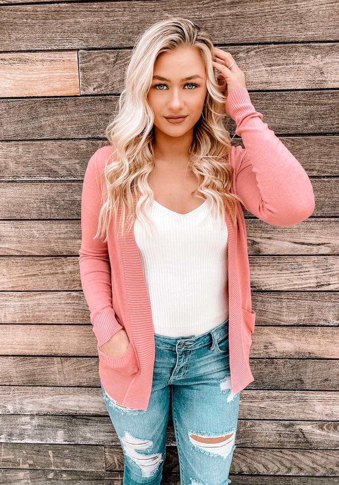 Let Me Love You Pocket Cardigan Pink