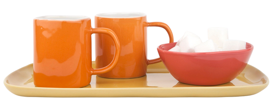 Espresso Cup - Orange (Pair)