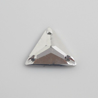 50 Pieces - 22 mm Triangle Metallic Stone - Silver