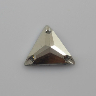 50 Pieces - 22 mm Triangle Metallic Stone - Gunmetal