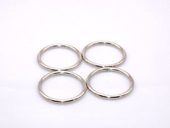 "10 Pieces - 1.5"" Metal O-Ring - Silver"