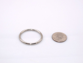 "20 Pieces - 1.5"" Metal O-Ring - Silver"