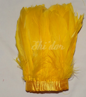 1 Yard Nagorie Feathers 4-6 inch - Gold