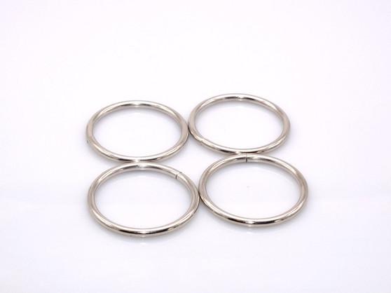 "20 Pieces - 1.5"" Metal O-Ring - Silver"