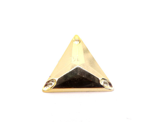 20 Pieces - 22 mm Triangle Metallic Stone - Rose Gold