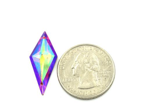 50 Pieces - 13 x 28 mm Diamond Stone - Red AB