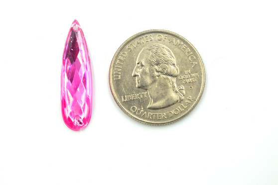 50 Pieces - 8 x 28 mm Teardrop Stone Pink