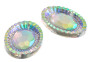 10 Pieces - 20x30mm Oval Stone - Clear AB