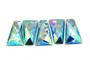 20 Pieces - 25x43 mm Trapezoid Stone - Light Blue AB