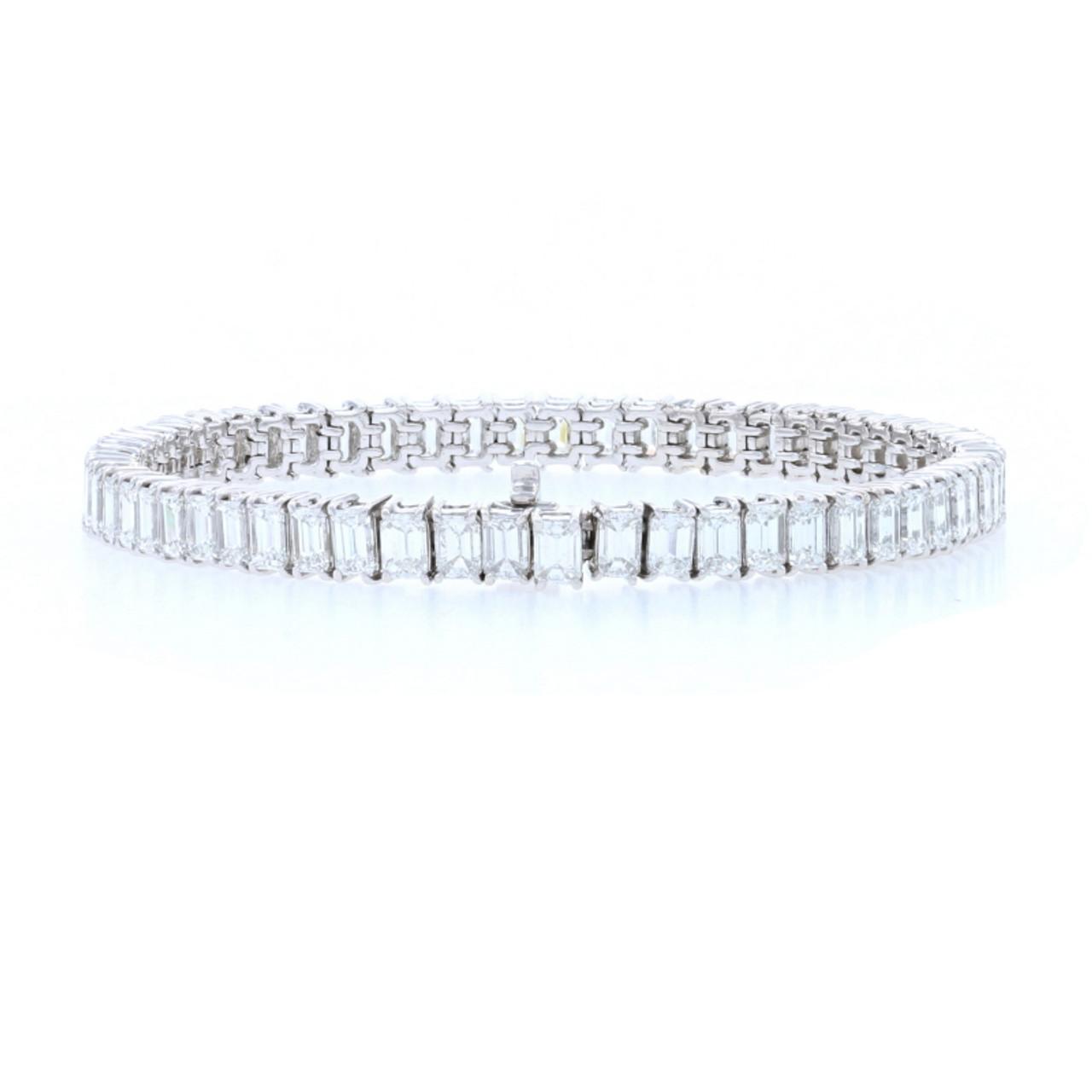 Details about  /8.93CT Round Cut Diamond 14K White Gold Finish Women/'s Exclusive Bracelet