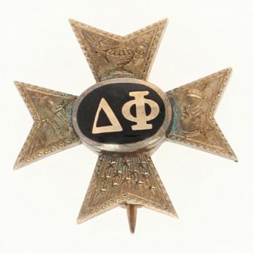 1915 FWHS Lapel Pin Antique Art Deco 14K Gold School Badge Unisex Solid Gold Frat Badge Edwardian Era SALE