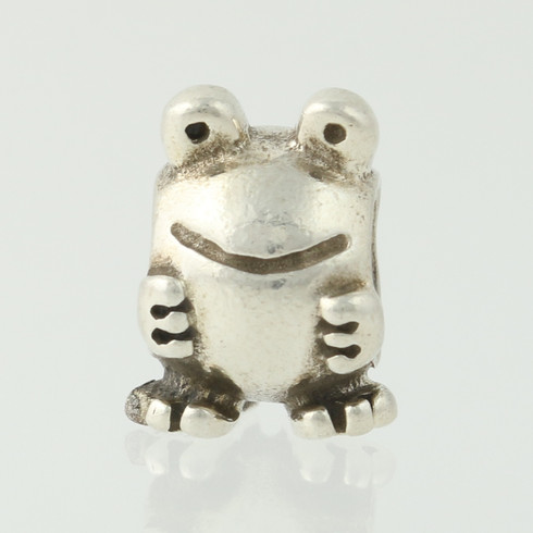 Solid 925 Sterling Silver Enamel Freshwater Cultured Pearl Frog Prince Lobster Charm Pendant 32mm x 16mm