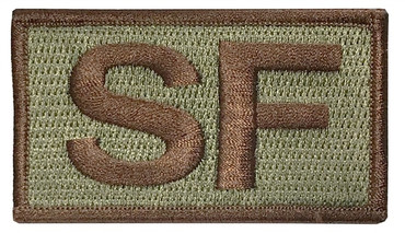 Multicam OCP SF Patch with Spice Brown Letters and Border with Hook Backing