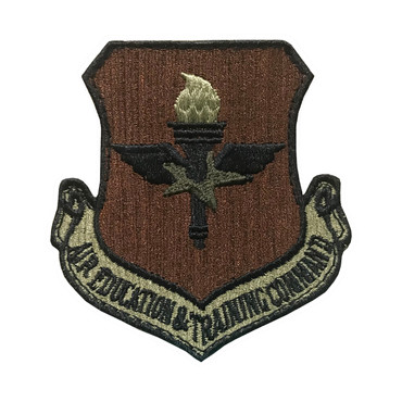 Multicam OCP AETC Air Education And Training Command Patch With Black Border With Hook Backing