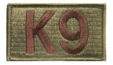 Multicam OCP K9 Patch with Hook Backing (Spice Brown Letters)