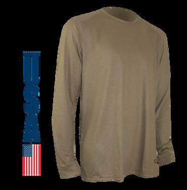 Tan 499 FR Phase I Longsleeve Crew Shirt by XGO