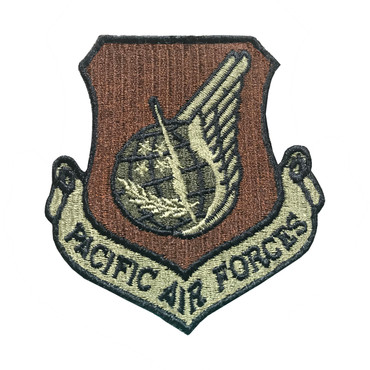 Multicam OCP PACAF Pacific Air Forces Patch With Black Border With Hook Backing