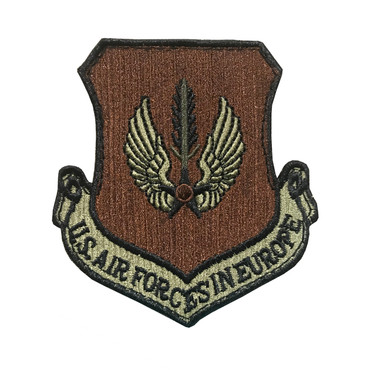 Multicam OCP USAFE US Air Forces In Europe Patch With Black Border With Hook Backing