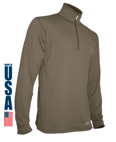 Tan 499 Phase 4 Performance Men's Zip Mock by XGO