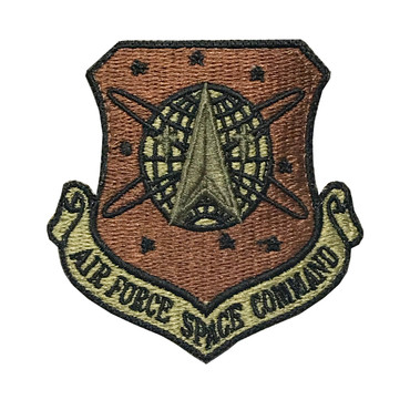 Multicam OCP Air Force Space Command Patch With Black Border With Hook Backing
