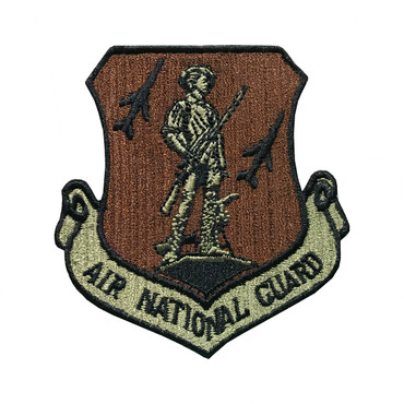Multicam OCP Air National Guard Patch With Black Border With Hook Backing