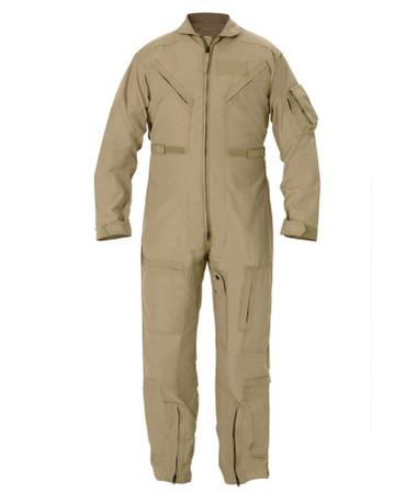 Custom Sized Tan Nomex Flight Suit