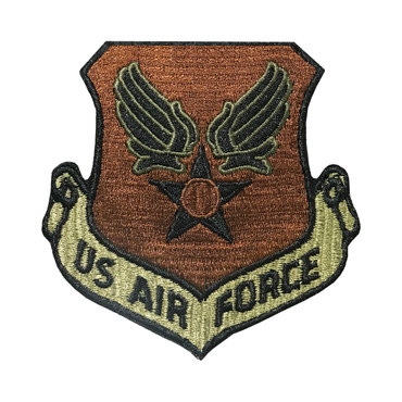 Multicam OCP US Air Force Patch With Black Border With Hook Backing