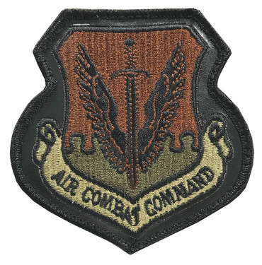 ACC Leather Patch - Multicam OCP Air Combat Command With Black Border With Hook Backing