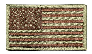 US Flag Patch - Multicam OCP Subdued With Hook Backing (Left Side)