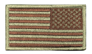 US Flag Patch - Multicam OCP Subdued With Hook Backing (Right Side)
