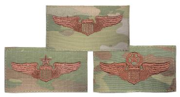 Multicam OCP Pilot Functional Badge With Hook Backing (Basic, Senior or Master)
