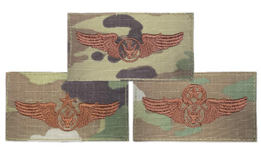 Multicam OCP Enlisted Aircrew Functional Badge With Hook Backing (Basic, Senior or Master)