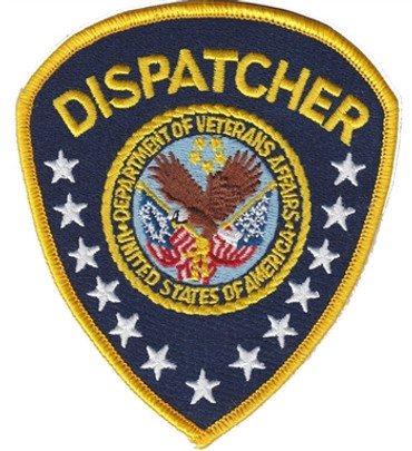 Blue/Gold VA Police Shoulder Patch - Dispatcher