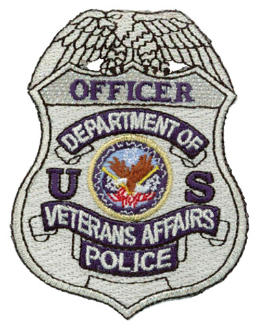 Silver VA Police Badge Patch - Officer