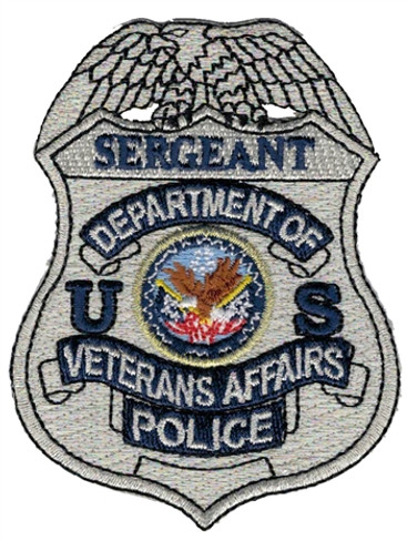 Silver VA Police Badge Patch - Sergeant