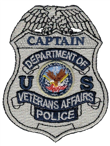 Silver VA Police Badge Patch - Captain