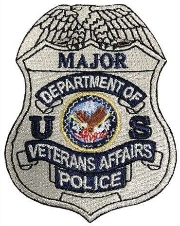 Silver VA Police Badge Patch - Major