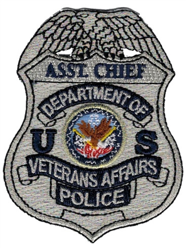 Silver VA Police Badge Patch - Asst. Chief