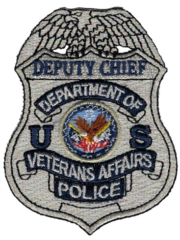 Silver VA Police Badge Patch - Deputy Chief